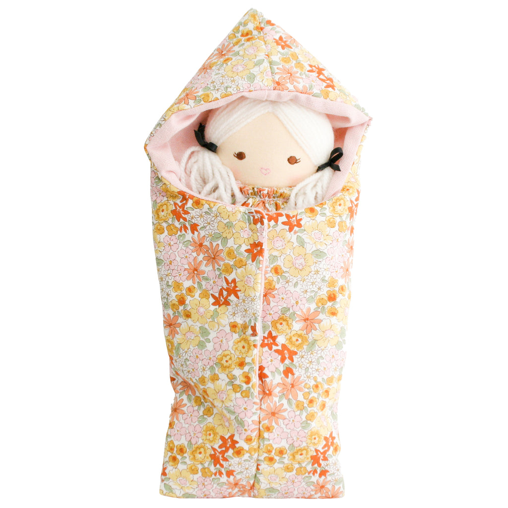 Alimrose Mini Sleeping Bag for Doll in Sweet Marigold