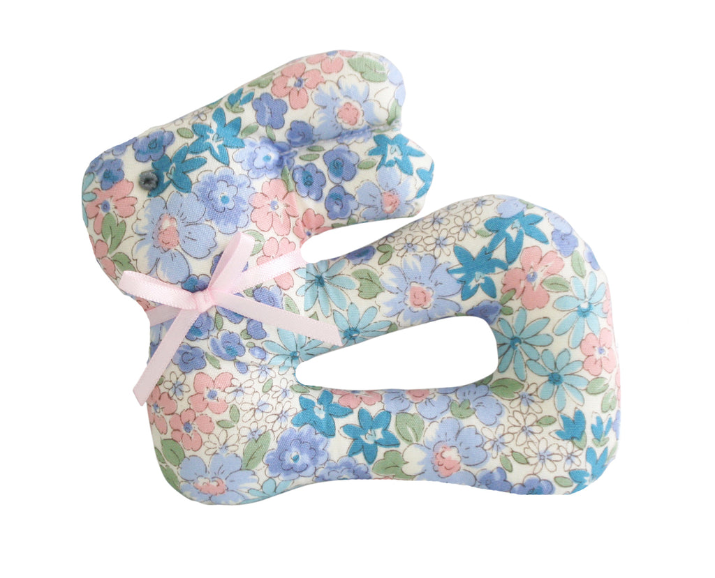 Alimrose My First Bunny Rattle in Liberty Blue