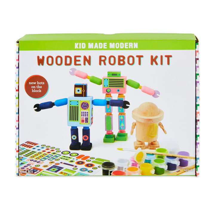 Kid Made Modern Wooden Robot Kit