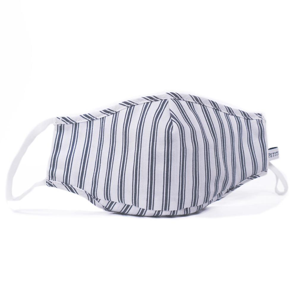 Petite Plume Children's Navy French Ticking Face Mask
