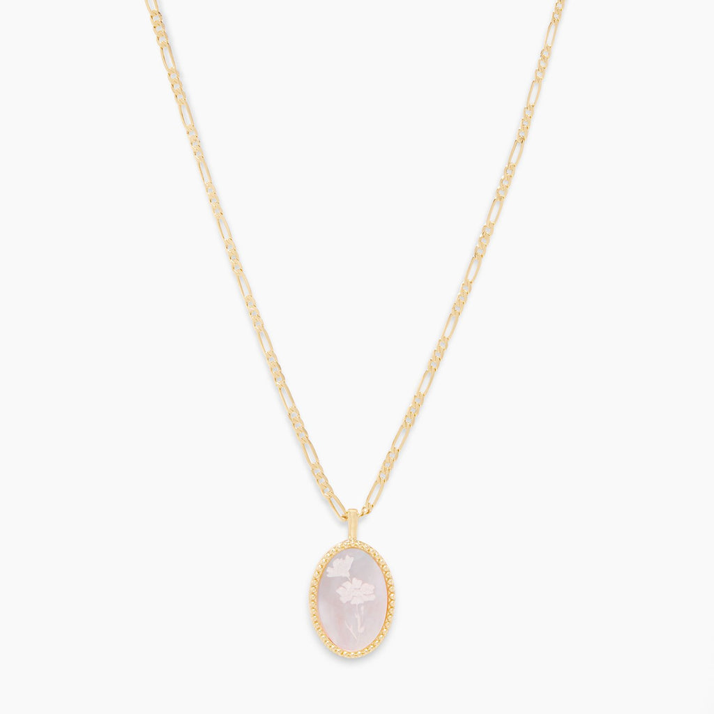 Gorjana Charlie Cameo Necklace in Gold
