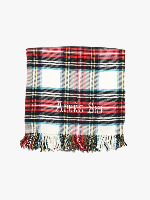 "A Soft Idea ""The Apres Ski Blanket"" in Cream Tartan"