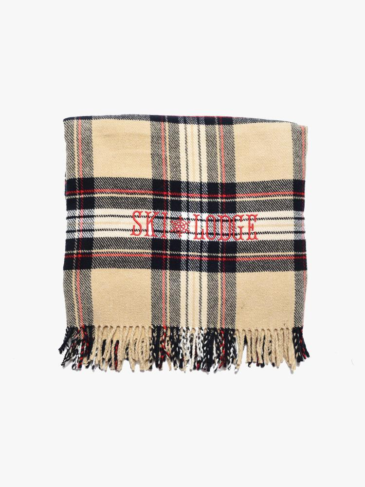 "A Soft Idea ""The Ski Lodge Blanket"" in Camel Tartan"