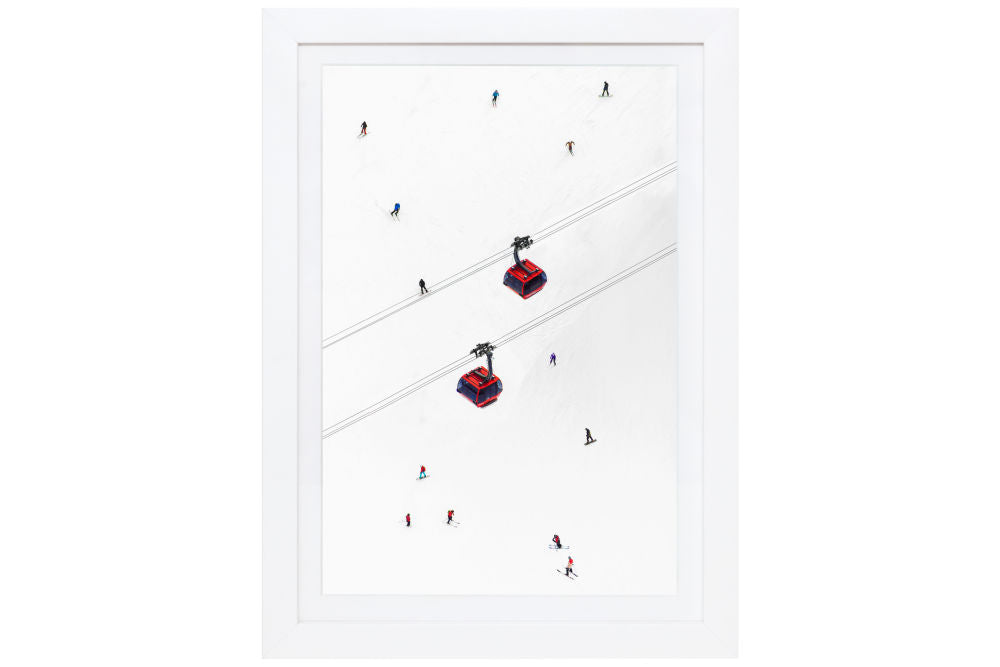 Gray Malin Peak to Peak Gondolas Mini Print Framed