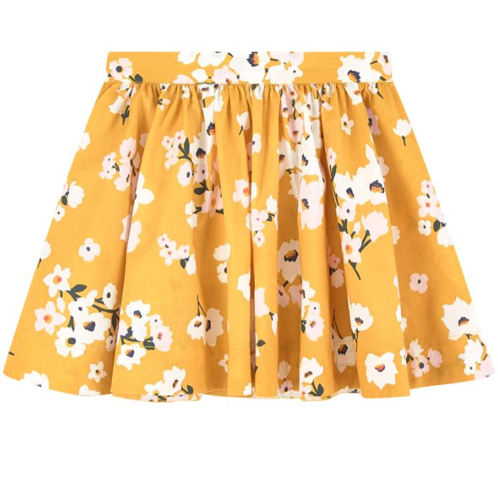 Petit Bateau Lovely Floral Skirt in Yellow
