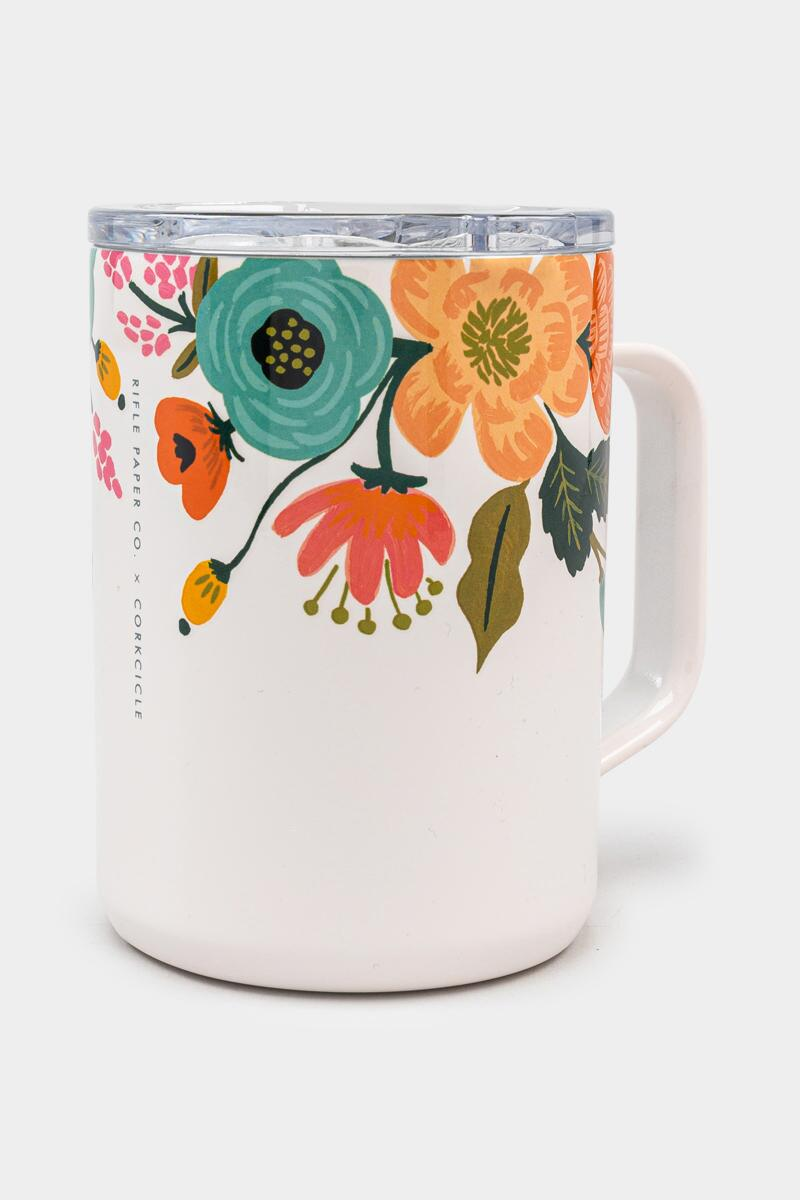 Corkcicle Coffee Mug in Rifle Paper Cream Lively Floral