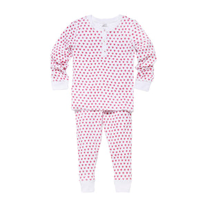 Roller Rabbit Hearts Kids Pajamas in Pink