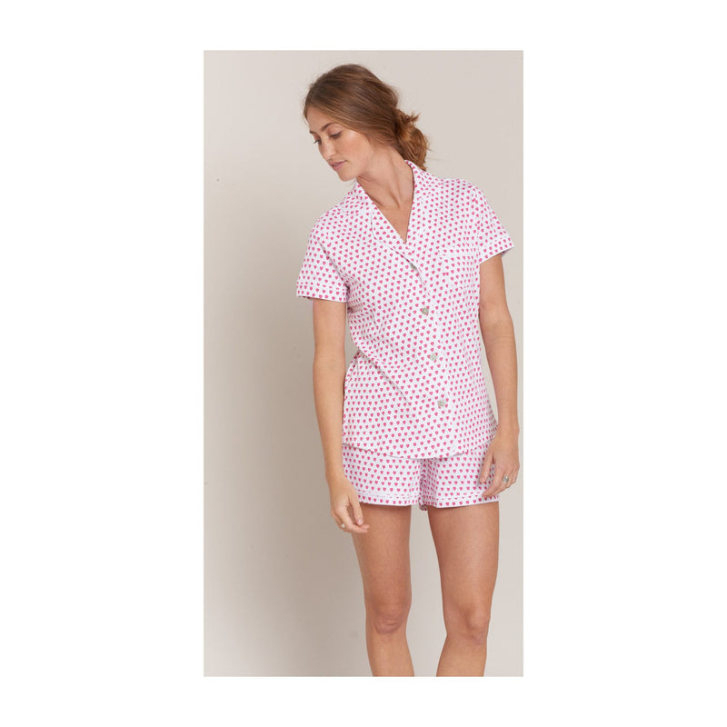Roller Rabbit Hearts Polo Set in Pink