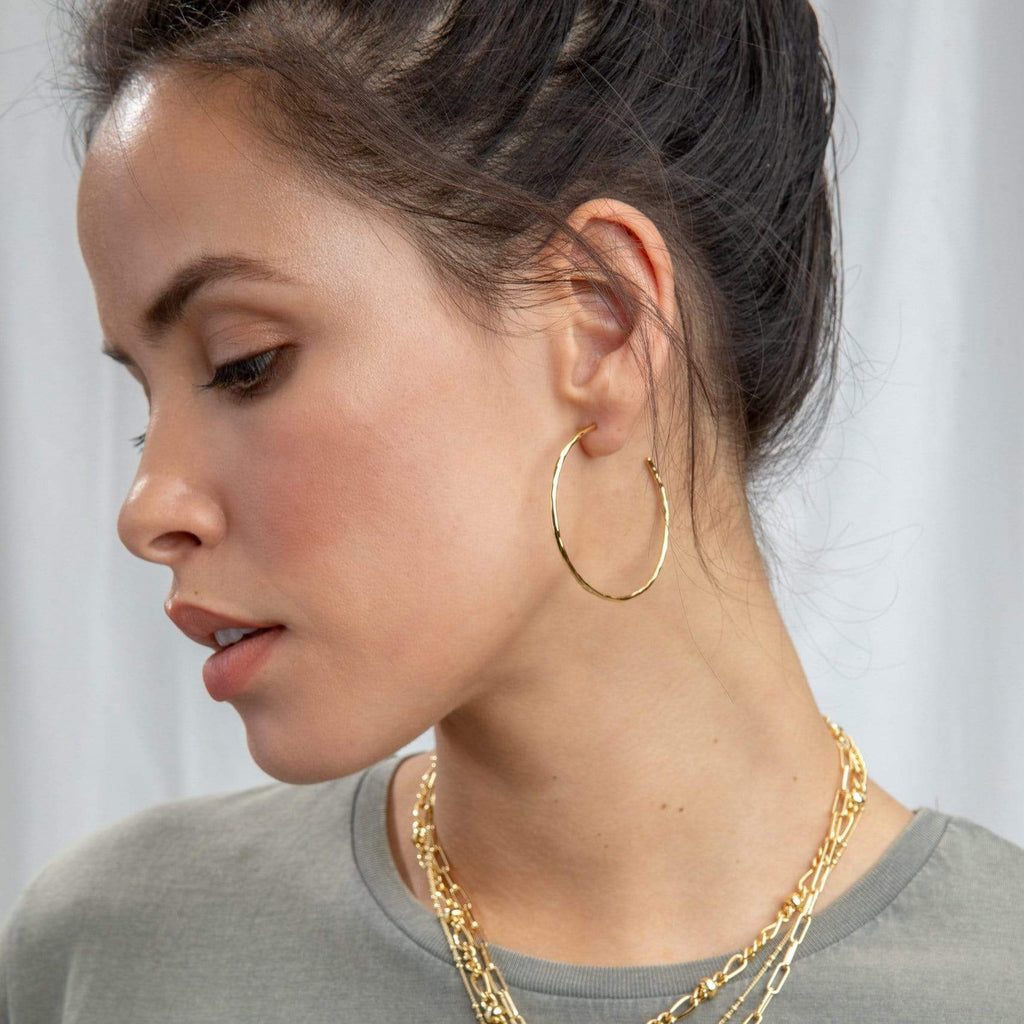 Gorjana Taner Hoop Earrings in Rose Gold