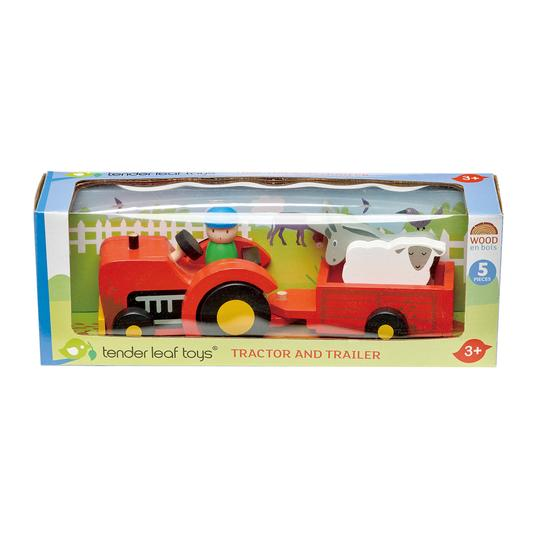 Tender Leaf Toys Tractor and Trailer Set