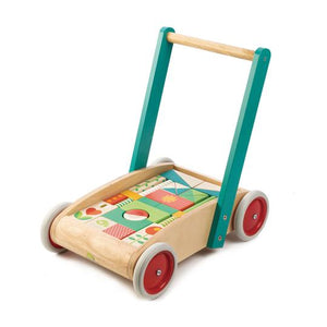 Tender Leaf Toys Baby Wagon with Blocks Walker