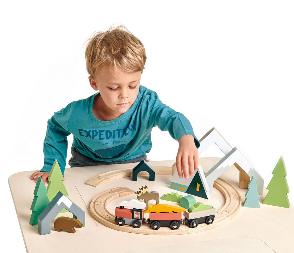 Tender Leaf Toys Treetops Train Set