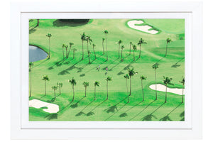 Gray Malin The Golfers, Palm Beach Mini Print Framed