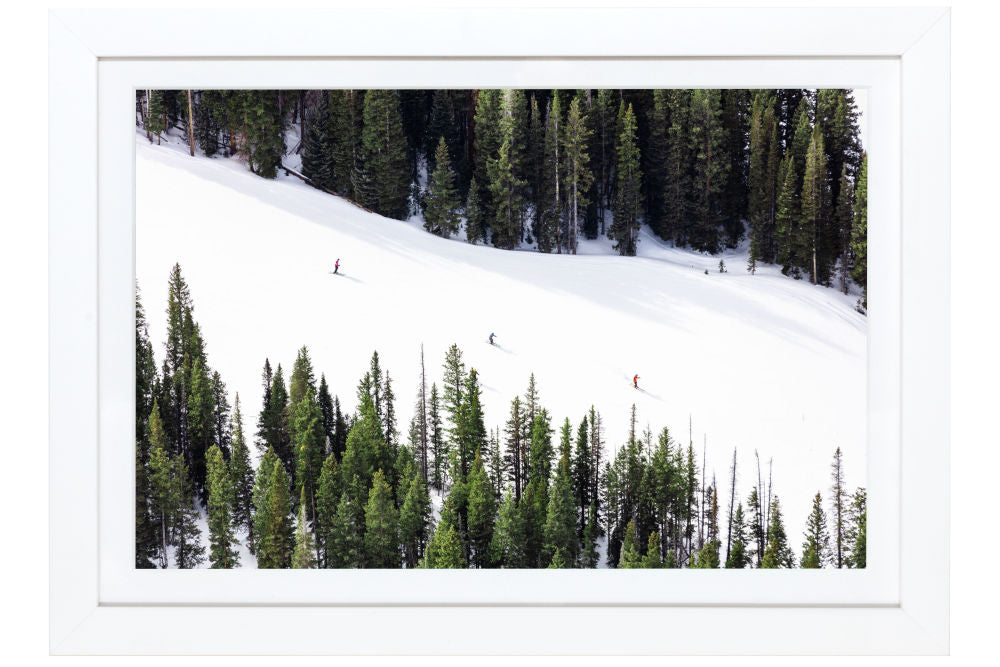 Gray Malin Three Skiers, Aspen Mini Print Framed