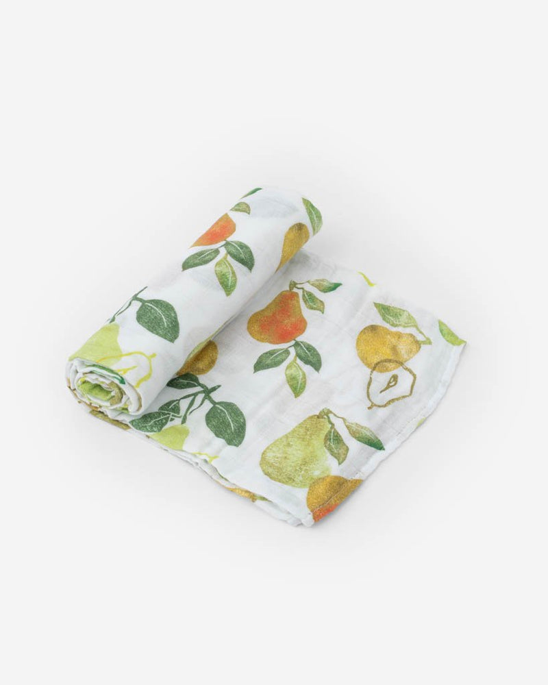 Little Unicorn Cotton Muslin Swaddle in Peary Nice