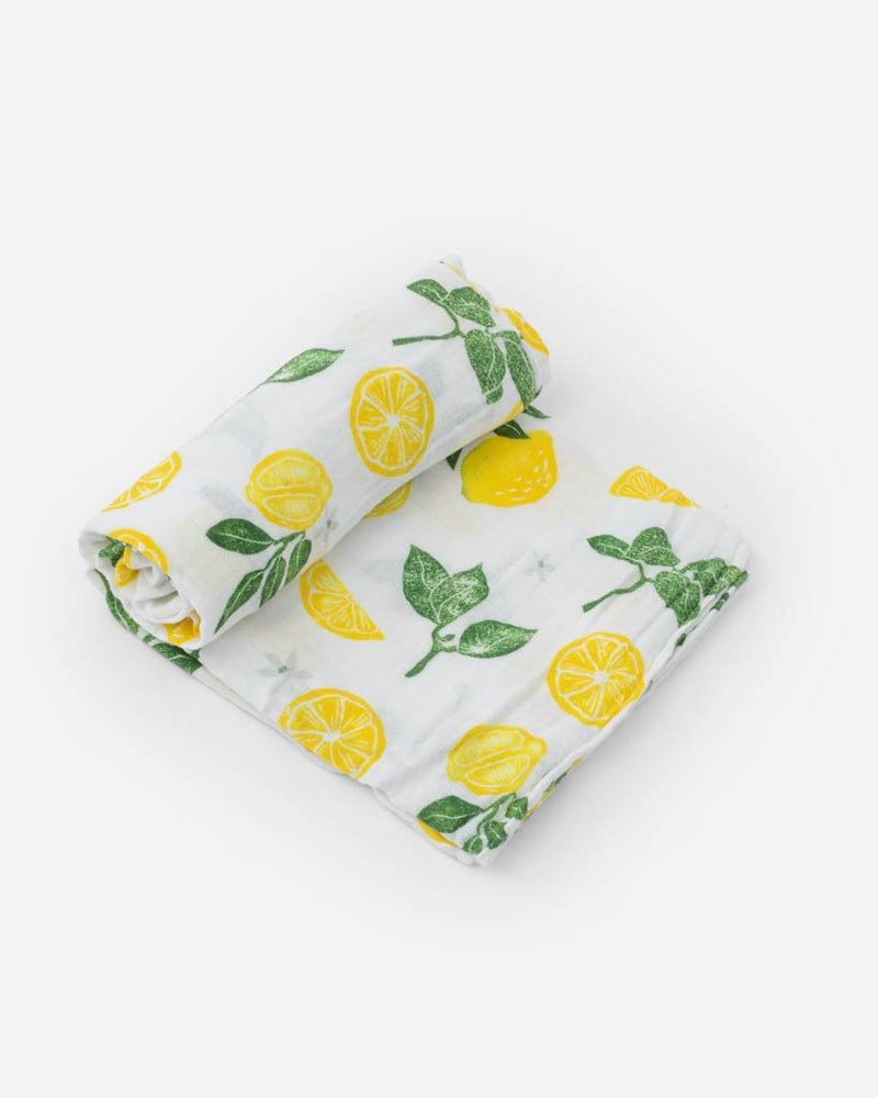 Little Unicorn Cotton Muslin Swaddle in Lemon Drop