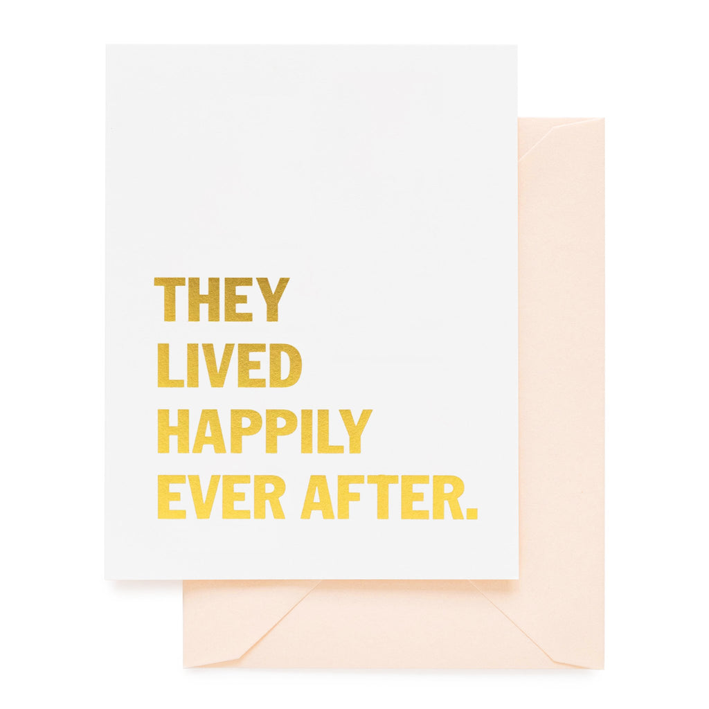 Sugar Paper Lived Happily Card
