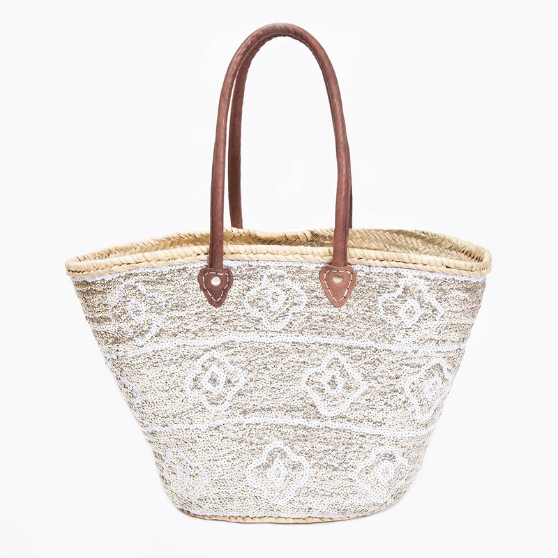 *Trunk Show* Asha by Ashley McCormick Silver Sequin Clover Basket