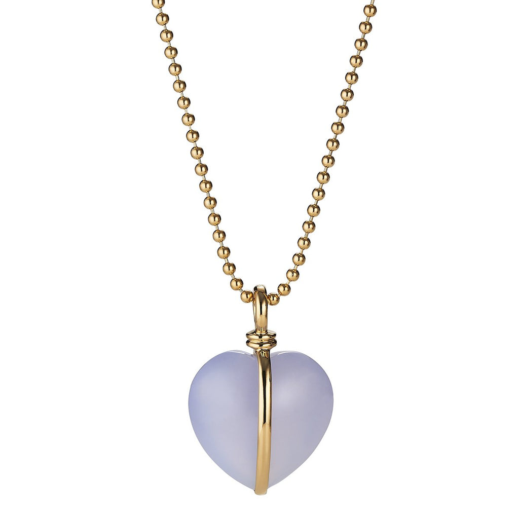 *Trunk Show* Asha by Ashley McCormick Wrapped Heart Charm in Blue Chalcedony