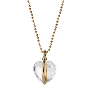 *Trunk Show* Asha by Ashley McCormick Wrapped Heart Charm in Rock Crystal