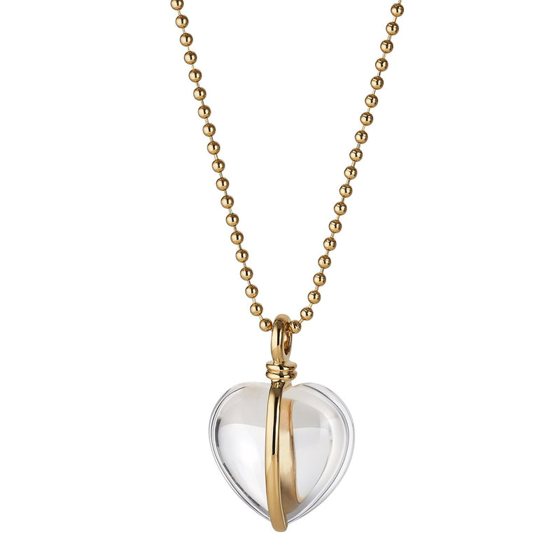 Asha by Ashley McCormick Wrapped Heart Charm in Rock Crystal
