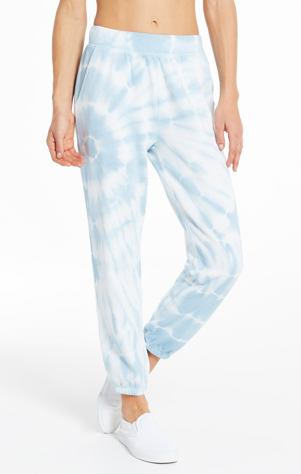 Z Supply Emery Spiral Tie-Dye Jogger in Blue Agave