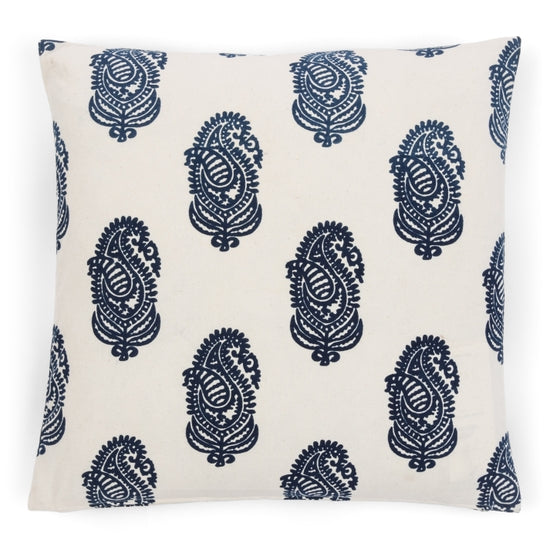 Alamwar Kashimir Pillow in Indigo