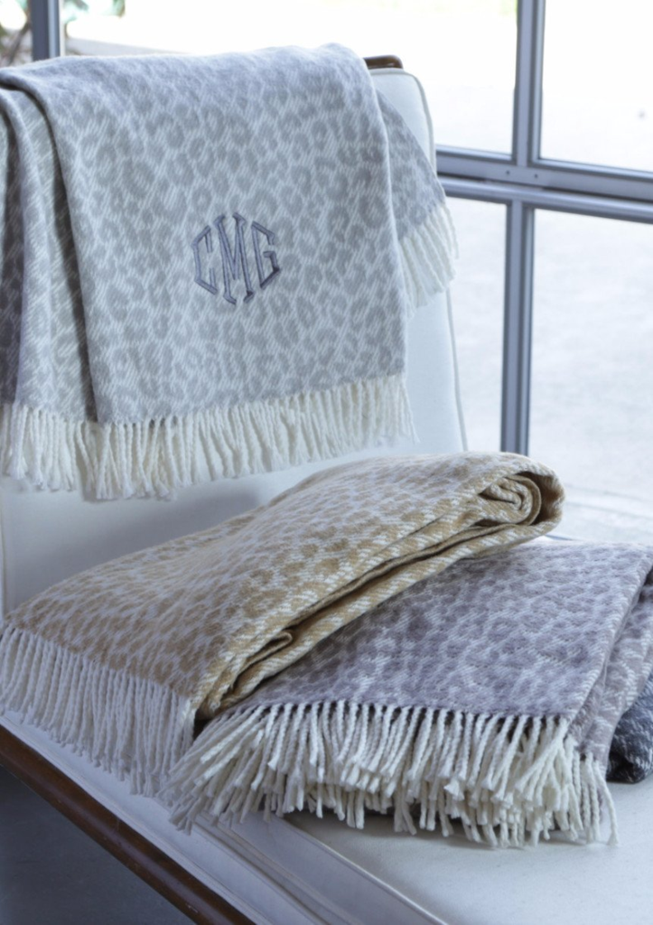 A Soft Idea Plush Leopard Throw