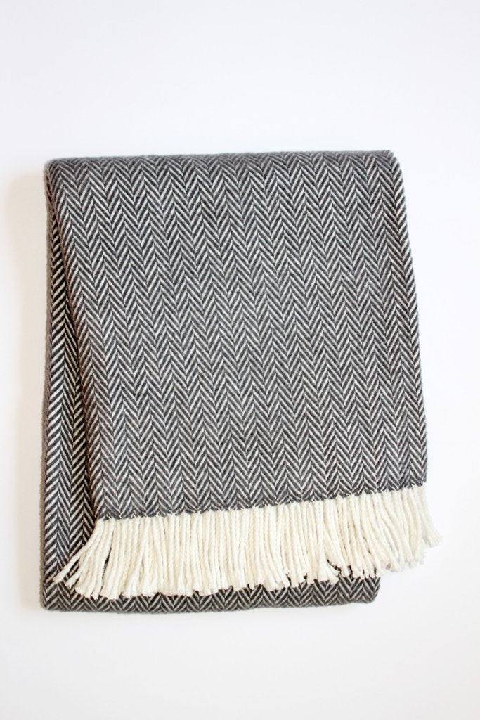 A Soft Idea Plush Herringbone Throw Blanket