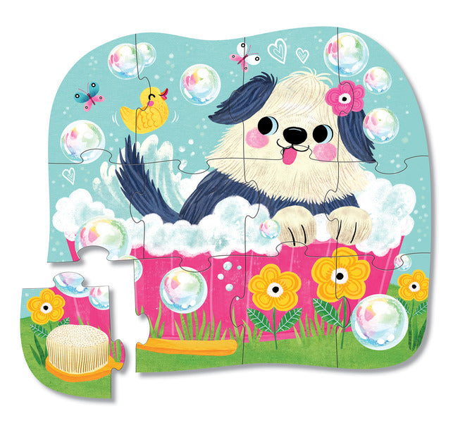 12-Piece Bath Day Mini Puzzle
