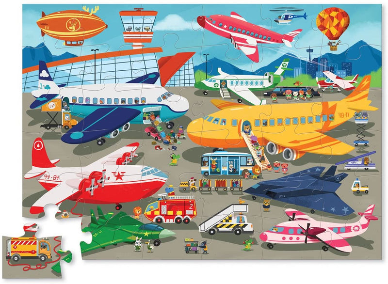 Crocodile Creek 36 Piece Busy Airport Puzzle