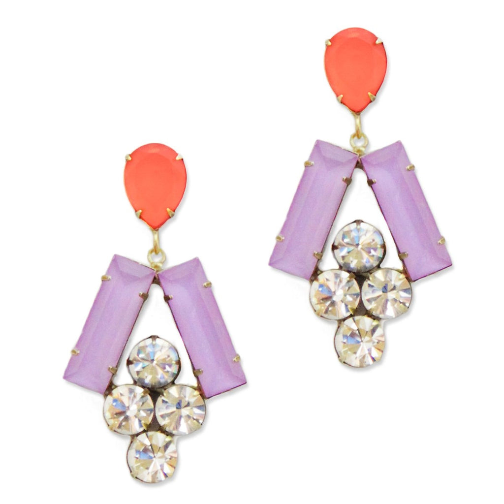 Loren Hope Petra Earrings in Orchid/Azalea
