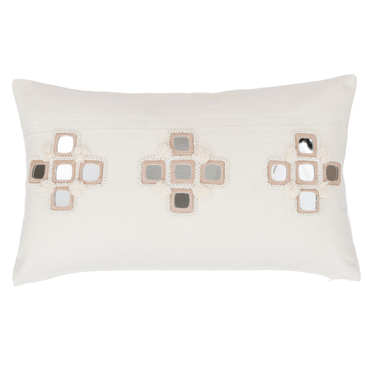 Alamwar Sheesha Pillow in Ivory