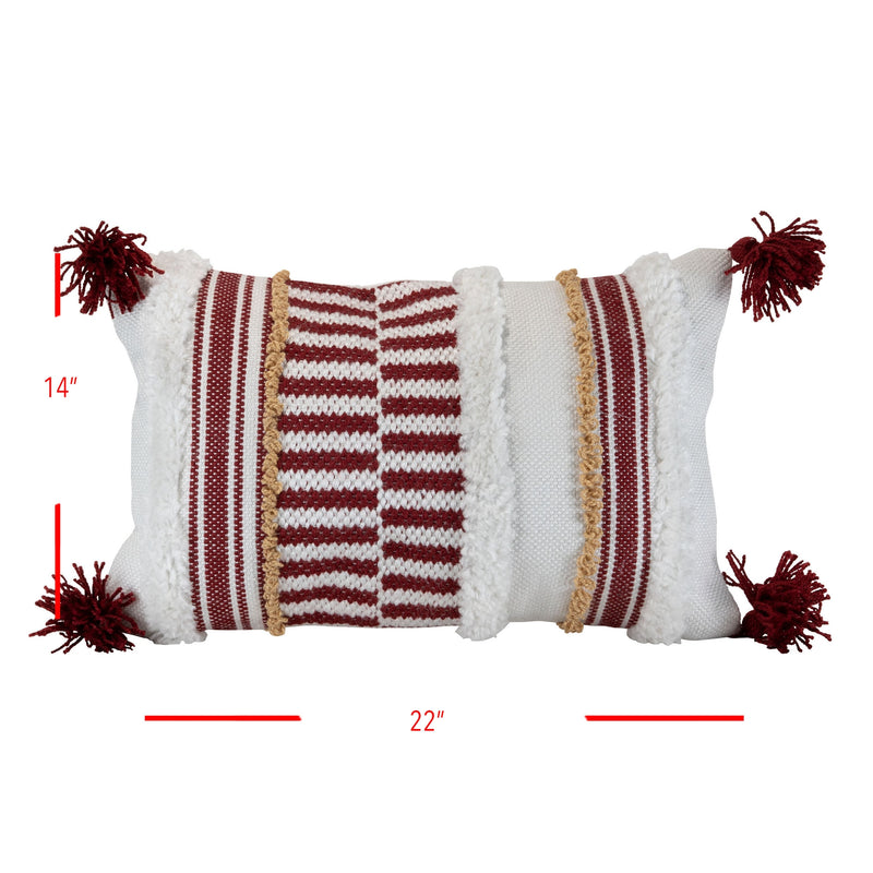 Foreside Home & Garden Handwoven Outdoor Amber Pillow - 14 x 22