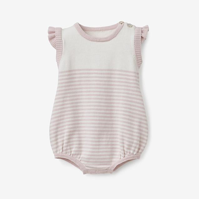 Elegant Baby Mini Stripe Bubble in Blush