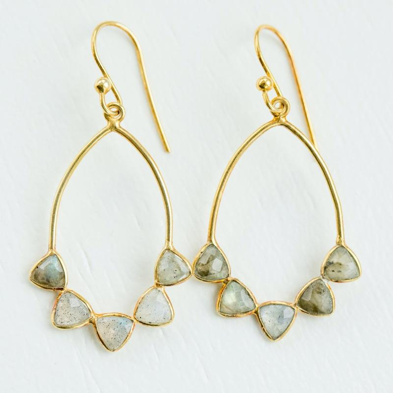 Elli Parr Frye Earrings in Labradorite
