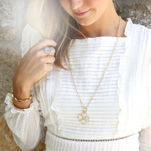 *Trunk Show* Asha by Ashley McCormick Heart Clover Charm in White Topaz