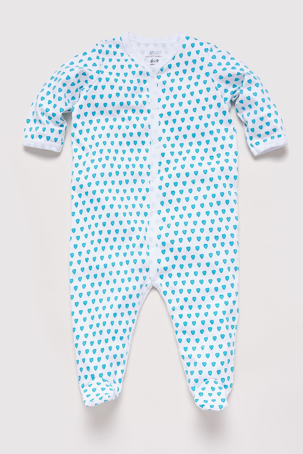 Roller Rabbit Infant Hearts Footie in Mint