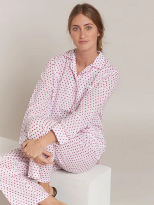 Roller Rabbit Loungewear Hearts Set in Pink