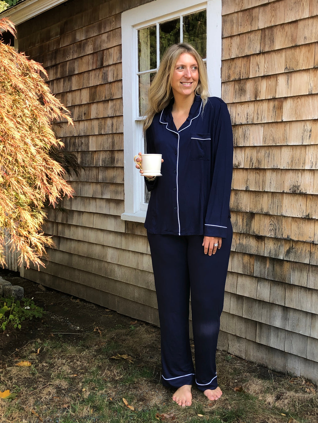 Whitney + Winston Lucy Pajama Set in Midnight