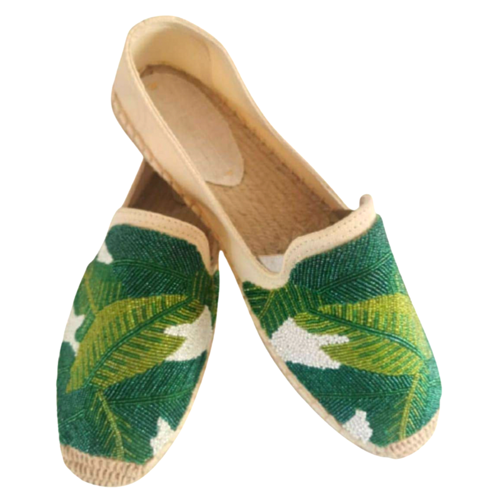 Tiana Beaded Palm Espadrilles