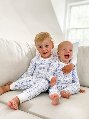 Joy Street Kids Boston Pajamas in Sailor Blue