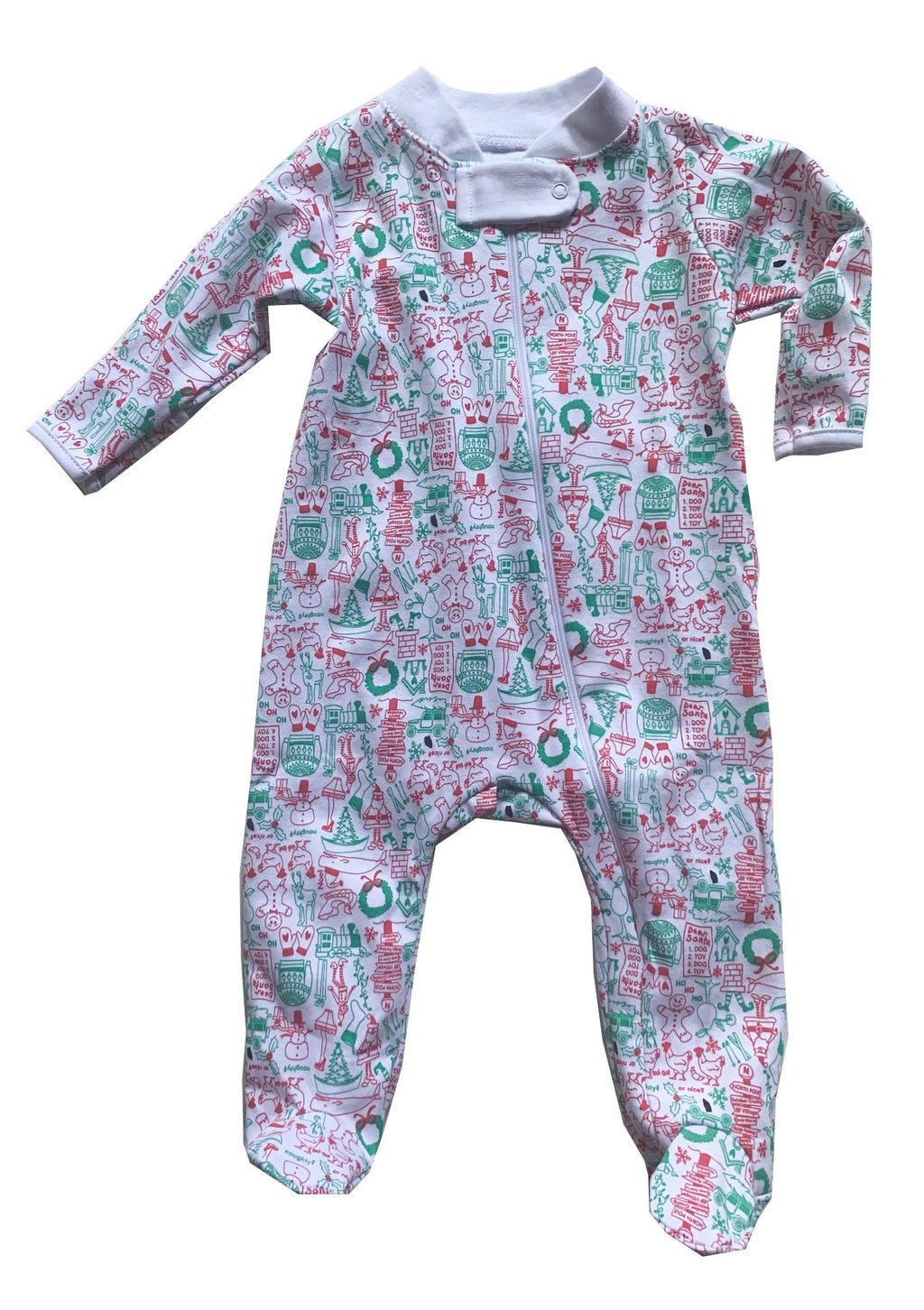 Joy Street Kids North Pole Footed Onesie