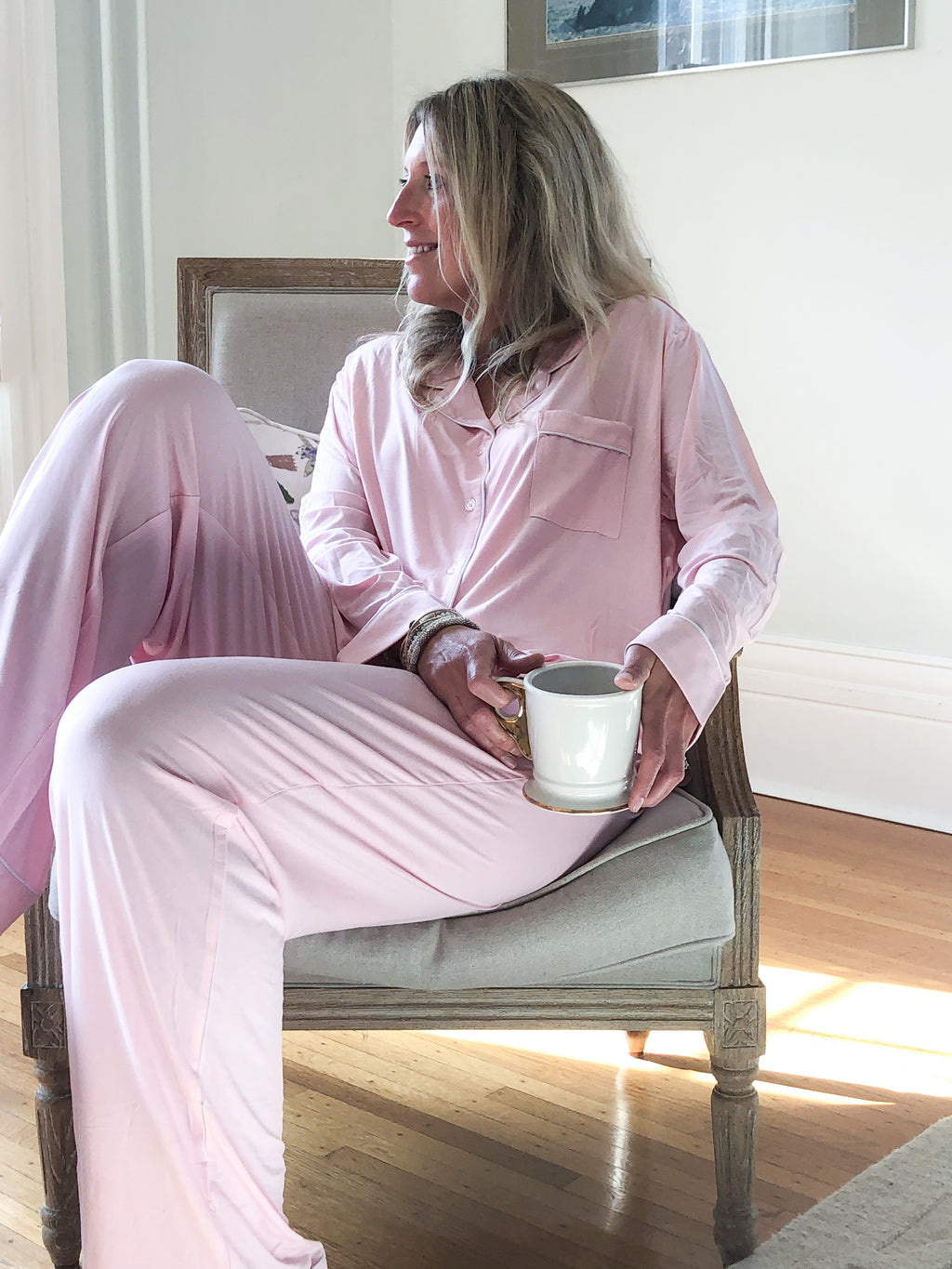 Whitney + Winston Lucy Pajama Set in Blushing
