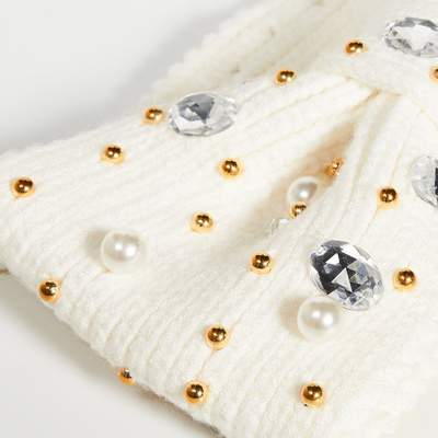 Lele Sadoughi Pearl and Crystal Ear Warmer in Ivory