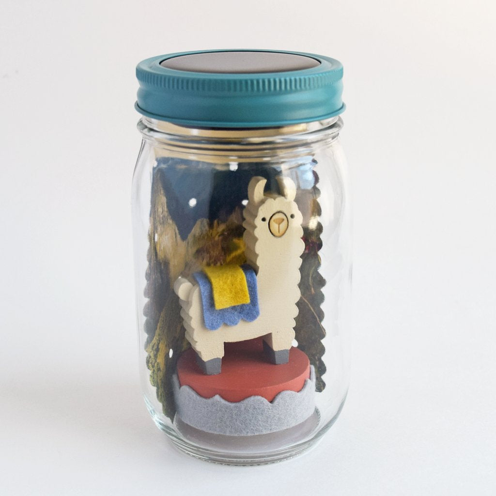 Tree by Kerri Lee Llama Mason Jar Night Light