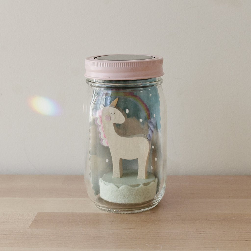 Tree by Kerri Lee Unicorn Mason Jar Night Light