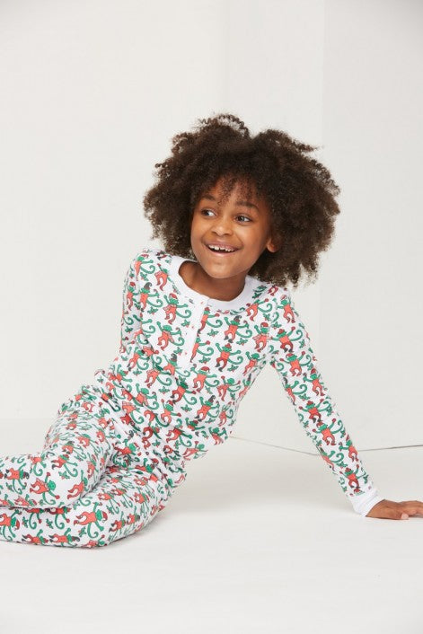 Roller Rabbit Kids Monkey Mas Pajama Set