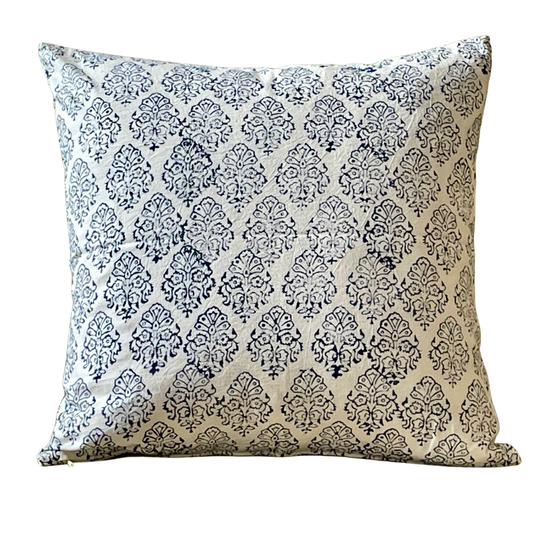 Alamwar Mumtaz Pillow in Indigo