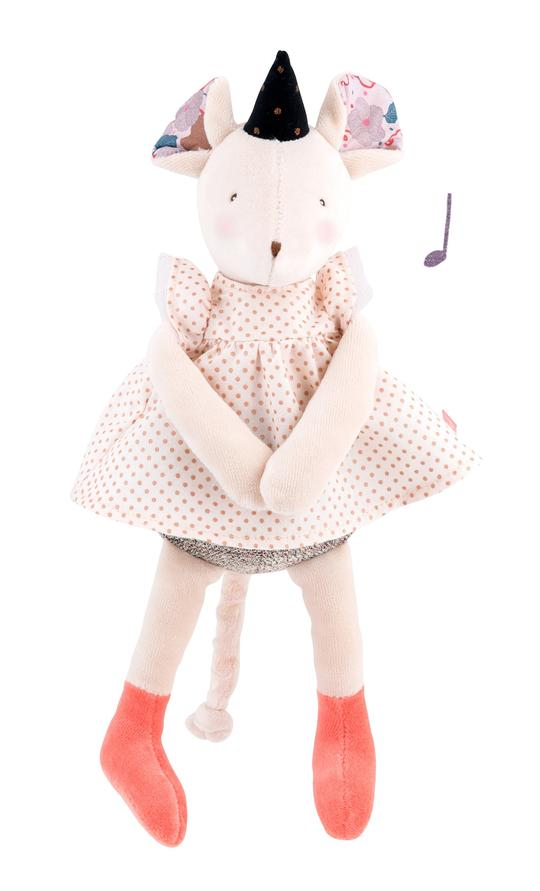 Moulin Roty Musical Polka Dot Mouse Toy